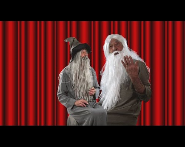 Gandalpoh and Merlin in The Dummy 04.26